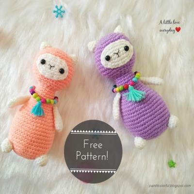 Amigurumi alpaca / amigurumi llama (free crochet pattern)