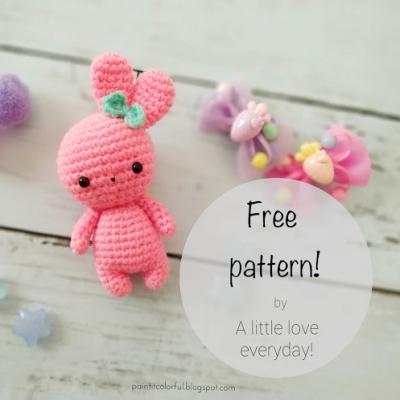 Tiny pink amigurumi bunny (free amigurumi pattern)
