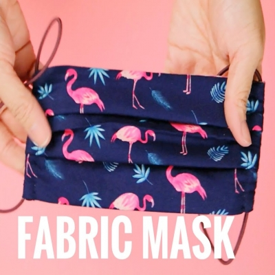 DIY Fabric surgical face mask (with filter pocket) - sewing tutorial