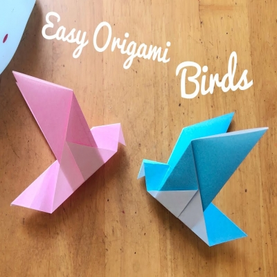Origami bird - paper folding tutorial