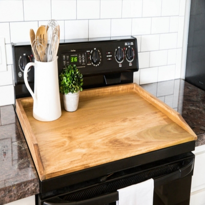 DIY Noodle board & stove top cover - woodworking tutorial