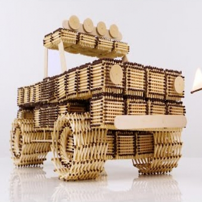 DIY Matchstick truck - How to make a matchstick truck without glue