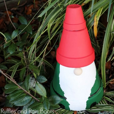 DIY Clay pot gnome  - adorable garden decor ( gnome craft for kids )