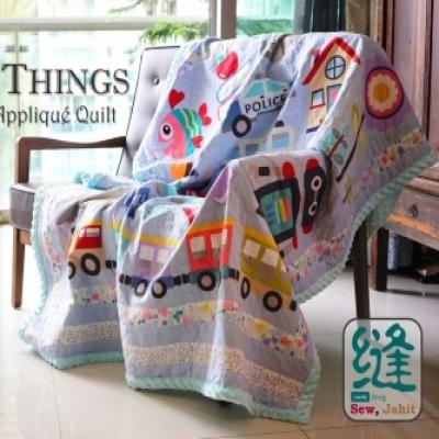 Oliver's favorite things -  lovely DIY applique quilt kids blanket