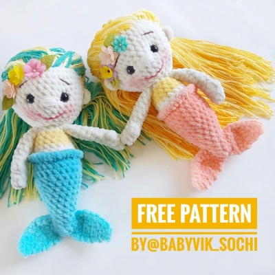 Amigurumi mermaid doll (free amigurumi pattern)