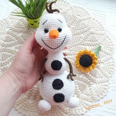 Olaf the snowman crochet pattern   Amiguroom Toys
