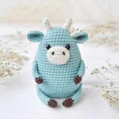 Small little amigurumi bull (free amigurumi pattern)