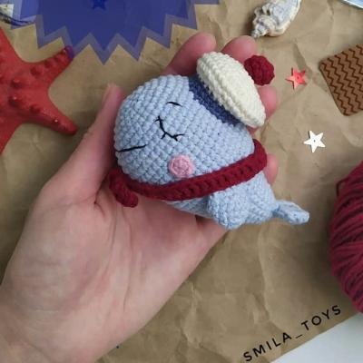 Amigurumi whale in a hat ( free amigurumi pattern)