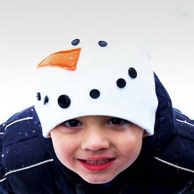 Kids snowman hat