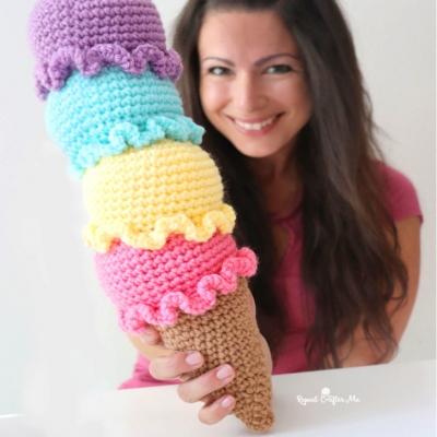Amigurumi ice cream tower (free amigurumi pattern)