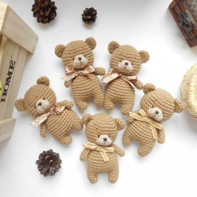 Small amigurumi bear (free amigurumi pattern)