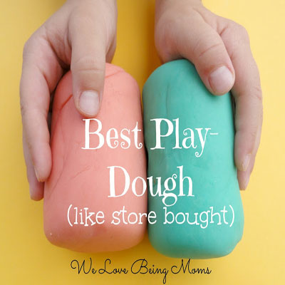 Homemade play-doh (play-dough) recipes