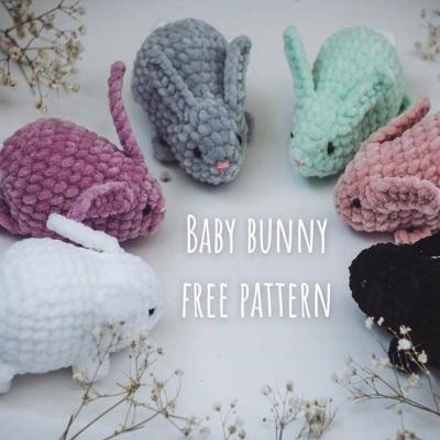 Lifelike amigurumi bunny (free crochet pattern)