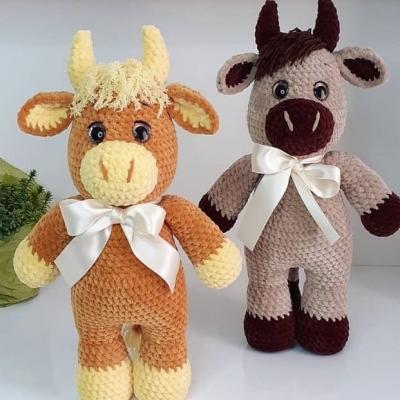 Soft amigurumi bull (free crochet pattern + video tutorial)