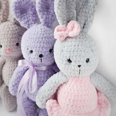 Soft amigurumi bunny (free crochet pattern)