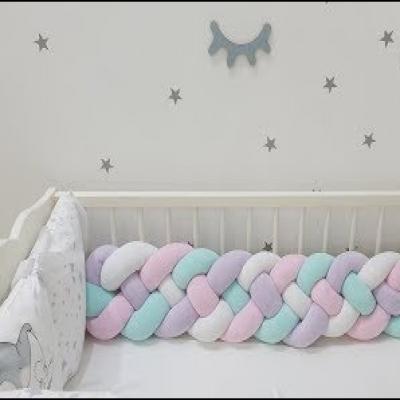 DIY Braided baby crib bumper (free sewing pattern + tutorial)