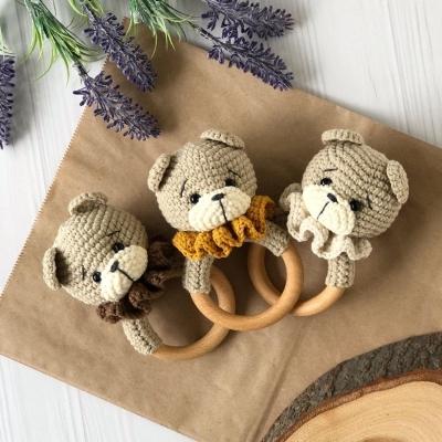 Amigurumi bear baby rattle (free amigurumi pattern)