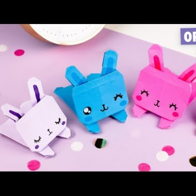 DIY Origami bunny (paper bunny) - paper folding for kids