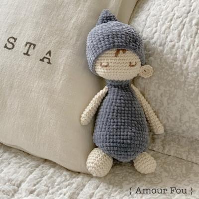 Sleepy Miko - cute sleeping amigurumi doll (free pattern)