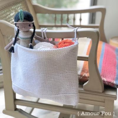 Handy crochet basket (free crochet pattern)