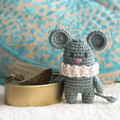 Tim the little amigurumi mouse (free amigurumi pattern)