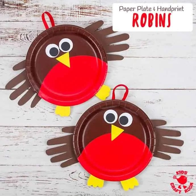 Paper Plate Robin Craft - Kids Craft Room