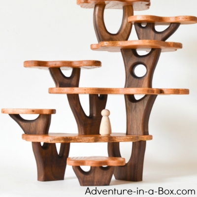 DIY Tree house building blocks - handmade woodland play set