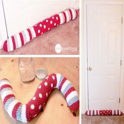 DIY Draft stopper - how to make a draft stopper out of socks