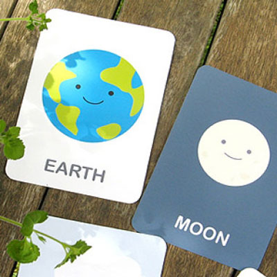 Earth vocabulary flash cards for kids (english,french,dutch)