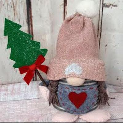 DIY Tin can Christmas gnome