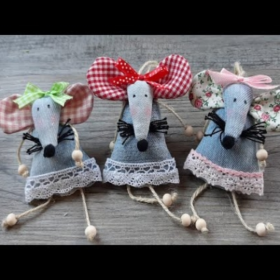 DIY Adorable jeans mouse (sewing tutorial)