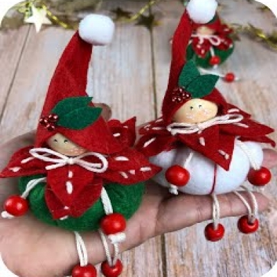 DIY felt Christmas gnomes (step-by-step tutorial)