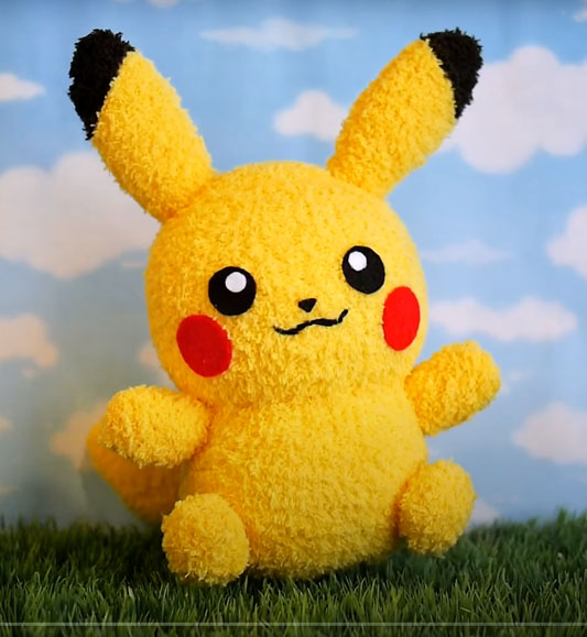 DIY Pikachu sock plushie ( with Free Pattern ) - Pokemon