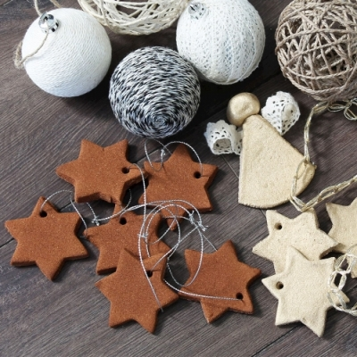 Homemade cinnamon stars - Christmas Tree ornaments