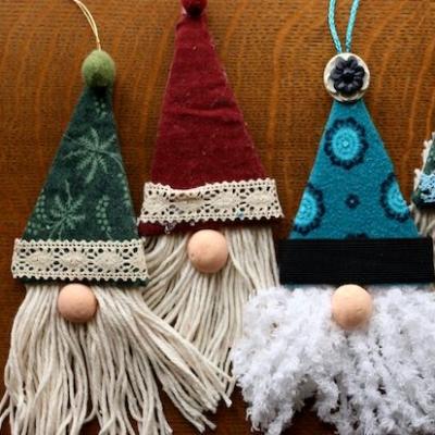Easy DIY Christmas gnome ornaments ( Christmas tree ornaments )