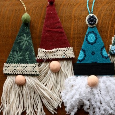Easy DIY Christmas gnome ornaments ( Christmas tree ornaments )