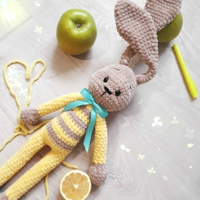 Long-legged amigurumi bunny ( free amigurumi pattern )