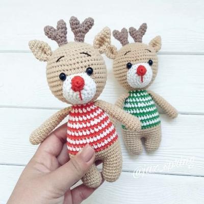 Christmas amigurumi reindeer (free amigurumi pattern)