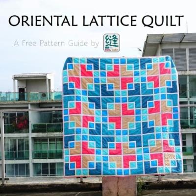 Oriental lattice quilt ( quilting tutorial + free pattern )