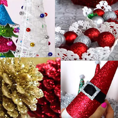 DIY Christmas decorations (4 different easy craft idea)