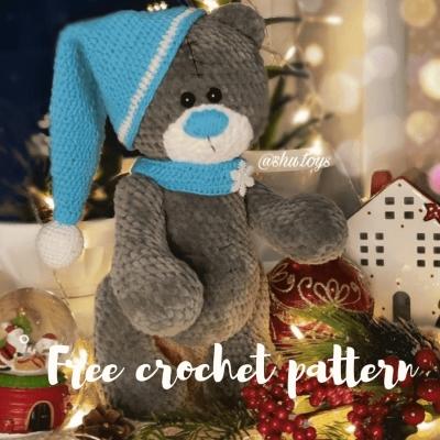 Tatty Teddy style soft amigurumi bear (free crochet pattern)