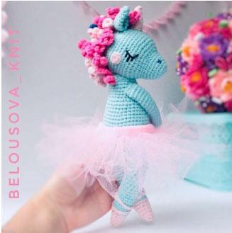 Lilu the amigurumi unicorn ballerina (free crochet pattern)
