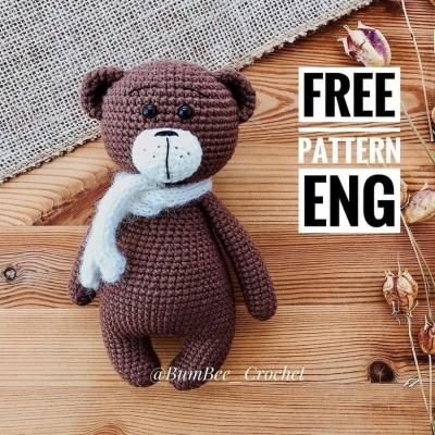 Bruno the amigurumi bear (free crochet pattern)