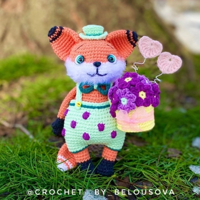 Mr. Darcy the amigurumi fox (free amigurumi pattern)