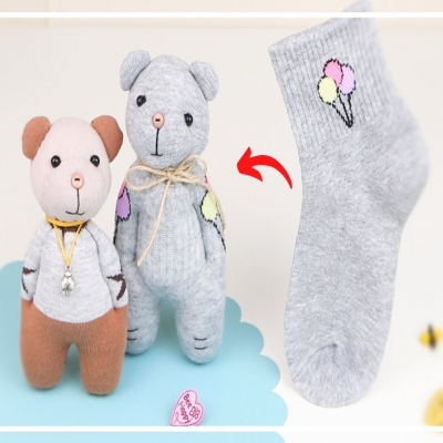 DIY Sock bear  - soft toy for kids (free sewing tutorial)