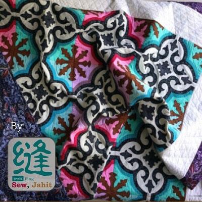 DIY Floor tiles inspired applique quilt ( free sewing tutorial + pattern )