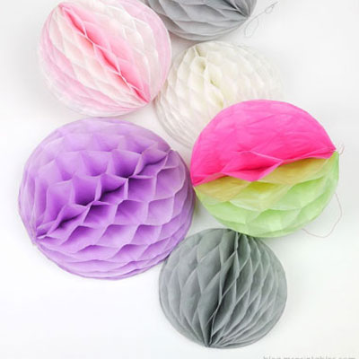 How to make honeycomb pom-poms