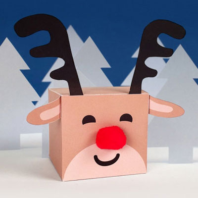Rudolph reindeer gift box (with printable)