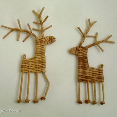 Adorable reindeers - paperweaving