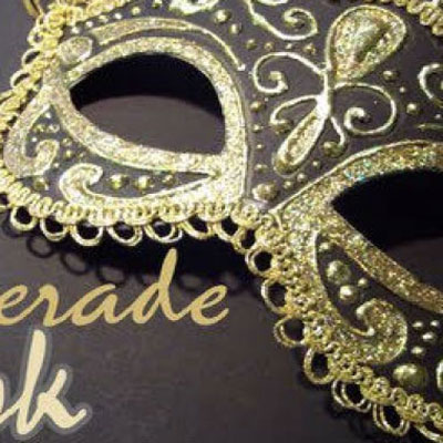 DIY Gold - black masquerade mask